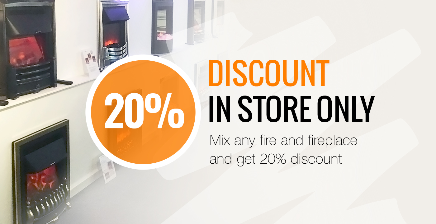 20% Off a Complete Fire and Surround Package!