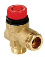 "Safety Valve 1/2"" MxF 3 Bar With Gauge Port No Gauge A314437 CST"