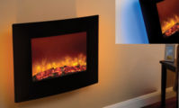 Be Modern Quattro 25'' Wall Mounted Electric Fire Curved 35130