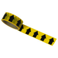 Black/Yellow Arrow Direction Tape - 33M X 38mm Wide