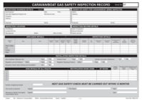 Regin Caravan / Boat Gas Inspection Record Pad REGP47