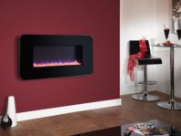 Celsi Touchflame Black 2KW logs or Crystals Remote Control CTLIFBRE